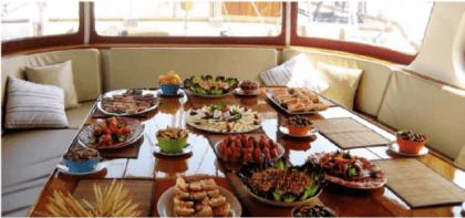 Cenas en barcos y veleros por sanxenxo y portonovo
